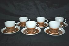 5 Vintage Noritake Younger Image Dominica 6925 Black & Brown White Dinner Plates