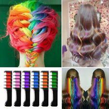 6pcs Temporary Hair Chalk Comb Hair Dye Colours Brush For Cosplay  X-mas Gift