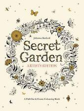 Secret Garden Artist's Edition: A Pull-Out and Frame Colouring Book, NEW
