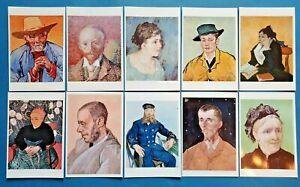 Beautiful Set of 10 NEW Vincent Van Gogh Portrait Art Paintings Postcards 66O