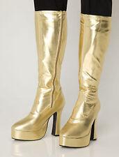 ORO GOGO Stivali donna rétro al ginocchio stivali con piattaforma - Taglia 4 UK