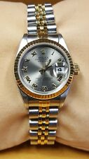 Ladies Rolex Datejust 26mm 69173 Two-tone, Steel and 18k Gold Silver Roman Dial