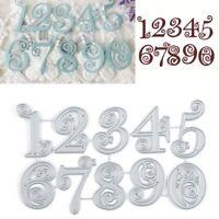 Lace Numbers Metal Cutting Dies Stencil Scrapbook Embossing Paper Card Craft Die