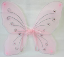 Pink Fairy Butterfly Angel Wings Rhinestones & Glitter For Dress Up & Costume