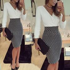 Women OL Formal Business Work Stretch Cocktail Party Evening Pencil Dresses /