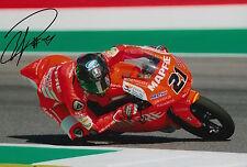 Francesco Bagnaia Hand Signed 12x8 Photo Mapfre Mahindra Moto3 2015 MotoGP 4.