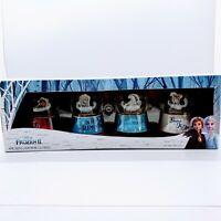"4 Disney ""Frozen 2"" Mini Glitter Globes - Set of 4 Snow Globes Elsa Olaf Anna"