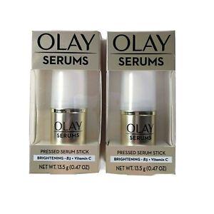 Olay Serums Pressed Serum Stick Brightening B3 Vitamin C .47 oz 13.5 g Lot of 2