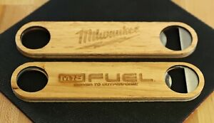 Milwaukee Power Tools Wooden Engraved Double Sided Fuel Bottle Opener M12 M18