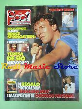 rivista CIAO 2001 31/1985 POSTER Springsteen Talking Heads Teresa De Sio No cd