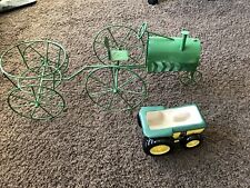 Garden Planters John Deere Theme Tractor And Wagon And Pot