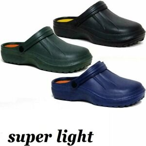 Mens Clogs Mules Sliders Nursing Garden Beach Sandal Hospital Kitchen Pool Shoes