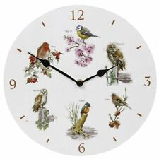 Birds Clock Time Piece Owl Robin Chaffinch Kingfisher BlueTit Gift Boxed Present