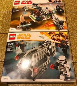 BOITE SET LEGO STAR WARS 75206 75207 IMPERIAL PATROL & JEDI  BATTLE PACK