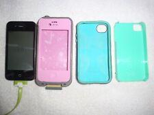 Apple iPhone 4s 16GB Black (Verizon) A1387 With 3 Cases Lifeproof Bundle