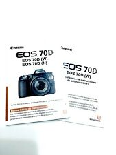 Canon Eos 70D Camera Instruction Book / Manual / User Guide - Spanish