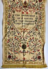 """Vintage Stevens Pure Linen Kitchen Towel 17x30"""" Pennsylvania Dutch Heart Flowers"""