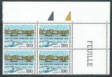 1996 FRANCIA CONGIUNTA ITALIA RAMOGE QUARTINA MNH ** - ED5