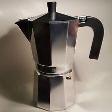 Monix Cafetera italiana 450 ml,Aluminio,color Plata,9 Tazas,asa termo resistente