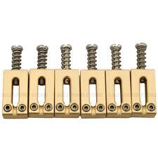 SOLID BRASS Bridge Saddles for Fender® Stratocaster Telecaster Strat Tele Guitar