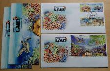 2012 Malaysia Underwater Life 4v Stamp & MS on 2 FDC (Kuala Lumpur Cachet)
