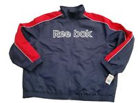 NWT $180 REEBOK Performance Soft Shell Men's Jacket Navy/Red Plus Size 5XL
