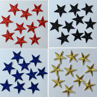 10 X Star Embroidery Sew Iron On Patches Applique For Clothes Bag 4.4cm 5 Colors