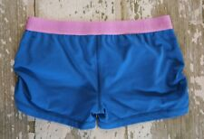 IVIVVA by Lululemon JET SET GET LOUD Shorts Dance Gym Blue Gripper Hem Size 14