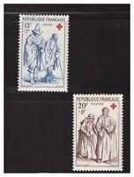 s23317) FRANCE 1957 MNH** Nuovi** Red Cross Croce Rossa