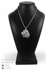 Springer Spaniel - silver plated necklace with silver cord, high quality, Art Do