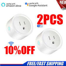 2Pack Wifi Smart Plug Outlet Remote Control US Socket Work For Alexa&Google Home