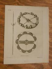 1776 Antique Scotland/Hebrides Print//BROTCHE (BROACH)///b