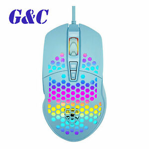 V9 4000DPI USB Mouse Wired Hollow-out RGB Rainbow Light Gaming Mouse for PC