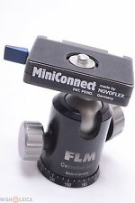 FLM CB38 F TRIPOD BALL & SOCKET HEAD W/ NOVOFLEX MINICONNECT PLATE FOR GITZO