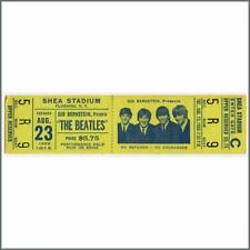 The Beatles 1966 New York Shea Stadium Concert Ticket Stub (USA)