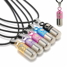 Metal Urn Cremation Pendant Necklace Ash Holder Mini Keepsake Jewelry Silver NEW