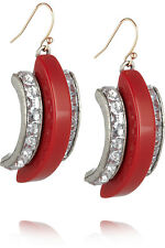 NEU NP183€ LULU FROST CRYSTAL AND RESIN DROP EARRINGS ROT SILBER STRASS GOLD