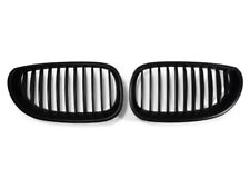 *Pair Matte Black Front Nose Kidney Grill Grille For 2004-2009 BMW E60 5 Series