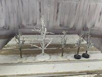 Lemax tree pine winter bare snow forest set xmas holiday decor scene village