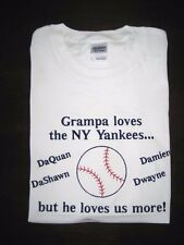 Personalized Daddy Dad Father Grandpa with Kids Names BASEBALL TEAM T Shirt