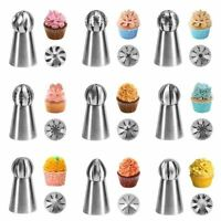 1pc Spherical Ball Stainless Steel Icing Piping Nozzle Pastry Tips Fondant Cupca