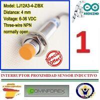 Interruptor de Proximidad LJ12A3-4-Z/BX Sensor Detector Inductivo Deteccion PU01