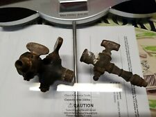2 Antique Brass Shut Off Valves Gas Light collectable pre 1900 German L@K