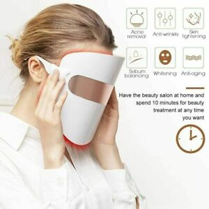 LED Photon Skin Acne Rejuvenation Beauty Therapy Face Mask