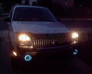 Halo Fog Lamps Driving Lights Kit for 2002 2003 2004 2005 Mercury Mountaineer