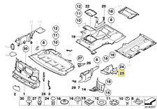 BMW 5 SERIES E39 UPPER LEFT ENGINE COMPARTMENT COVER 51718235607