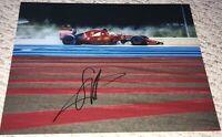 SEBASTIAN VETTEL SIGNED AUTOGRAPHED F1 RACING FERRARI 11X14 PHOTO PROOF