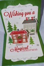 PaperCraft 3D CHRISTMAS GREETING POP UP CARD HOLIDAY CARD SEASON'S GREETINGS
