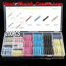 US 200PCS Heat Shrink Wire TerminalS ConnectorS Waterproof Solder Sleeve Set Kit