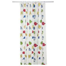"NEW Shower Curtains Multicolor Fish pattern 71x71"" Fun Children Bathroom PEVA"